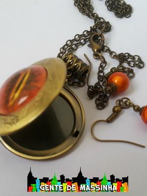 Conjunto Relicário Olho de Sauron - Black Friday