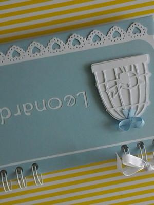 caderno mensagens bebê menino personalizado chá maternidade