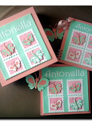 diário bebê menina caixa caderno maternidade jardim encantad
