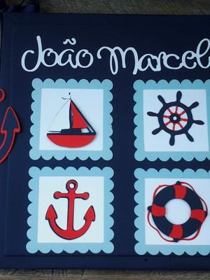 livro do bebê personalizado menino marinheiro scrapbook