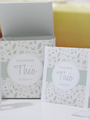Convite Sachê de Chá Personalizado C/ 10