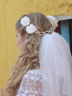 Grinalda Floral Tiara Trançada