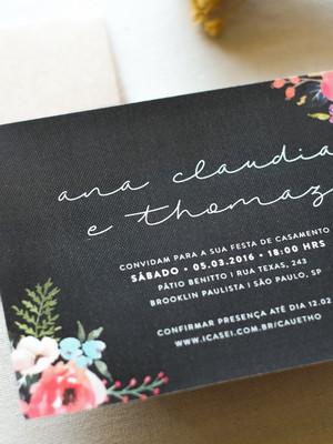 Convite P - Ana e Thomas