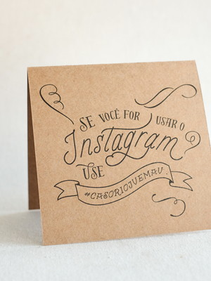 Plaquinha Mesa Instagram