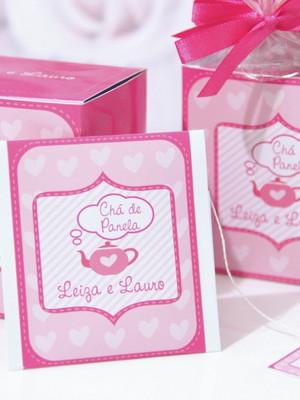 Lembrancinha Sachê de Chá Personalizado