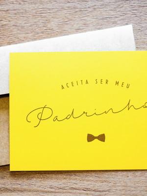 Cartão Simples - Amarelo Gravatinha