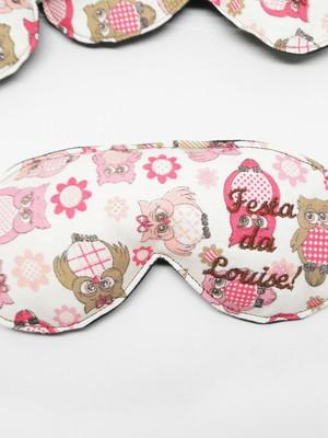 Máscara de dormir bordada personalizada* escolher tecidos *