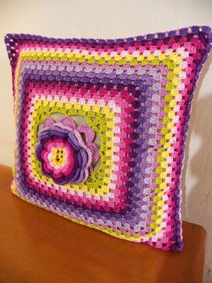 Almofada de Granny Squares Floral