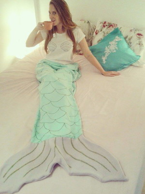 Cobertor cauda de sereia