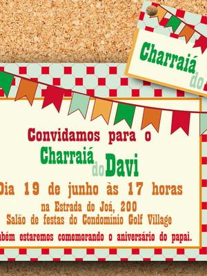 Tag + Convite Festa Junina Charraiá (digital)