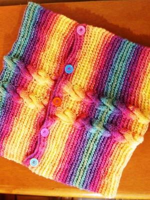 Gola Capuz Batik em tricot