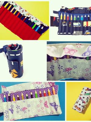 Estojinho para 12 mini lápis de cor, giz ou canetinha mini *