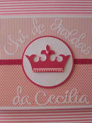 caderno bebê menina maternidade chá mensagens fotos princesa
