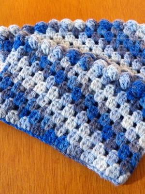 Boots Cuffs Blue em crochet