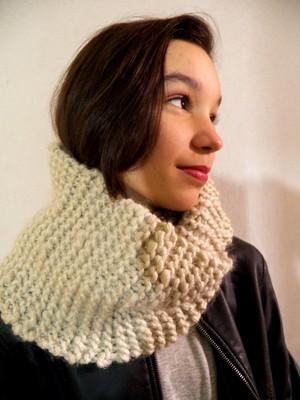 Gola Capuz em tricot