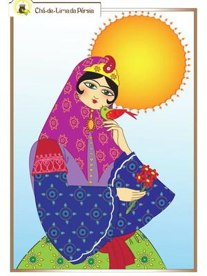 Poster digital arte persa - Khorshid Khanom