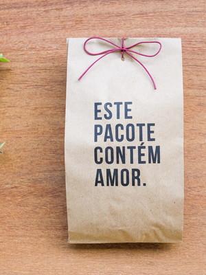 Saquinho Kraft Simples - Contém Amor