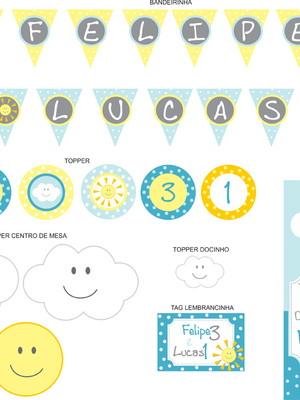 Kit digital Festa Sol e Nuvem