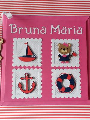 Diário do bebê ursinha marinheira para m