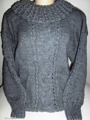 Blusa em tricot Irlândes Cinza