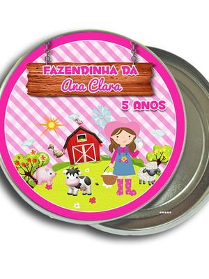 Latinha Personalizada Fazendinha Rosa