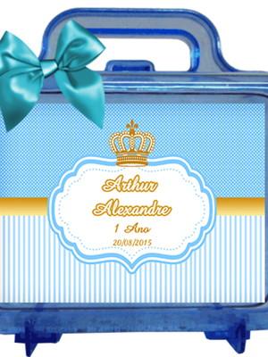 Maletinha Personalizada coroa azul