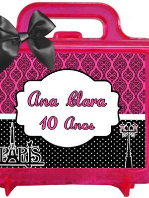 Maletinha Personalizada Paris Rosa Pink
