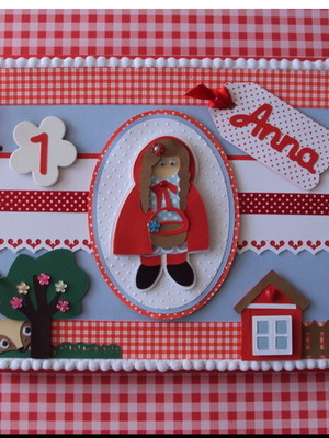 caderno decorado bebê menina chapeuzinho vermelho scrapbook