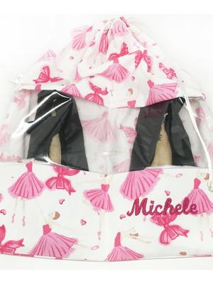 Saquinho sapatilha com nome bordado * 32x38cm