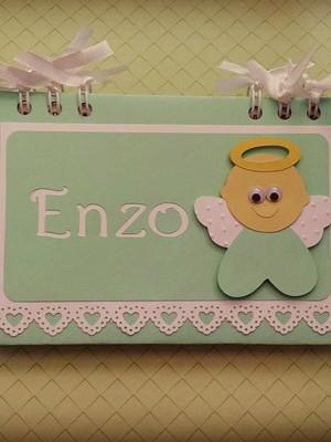 caderno personalizado mensagens batizado bebê menino