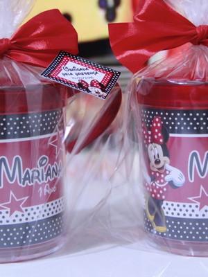 Caneca de Acrílico Minnie e Mickey