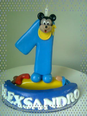 VELA BISCUIT MICKEY BABY PERSONALIZADA