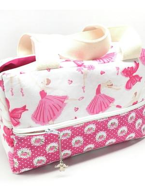 Bolsa tipo box para academia com zíper e bolsos 24x15x13 *