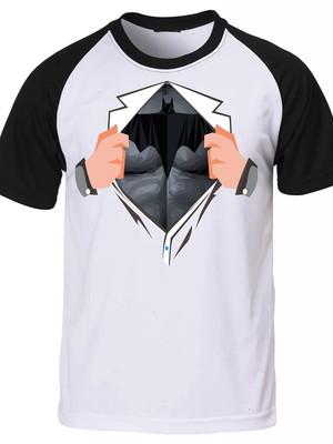 Camiseta Raglan Super Herói