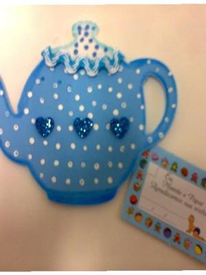 Lembrança para Chá de Bebê Menino Bule