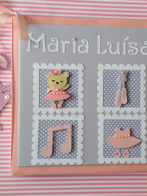 diário do bebê menina personalizado ursinha bailarina scrap