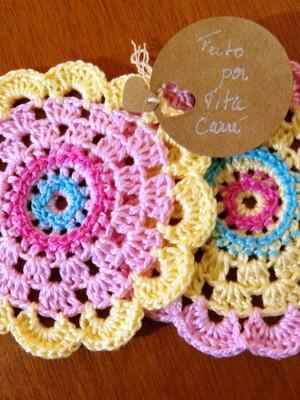 Porta-copos Delicado em crochet