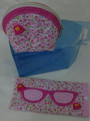 KitpresenteB porta-moedas / porta-óculos