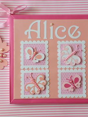 Diário Bebê menina borboletas lindinhas scrapbook livro bebê