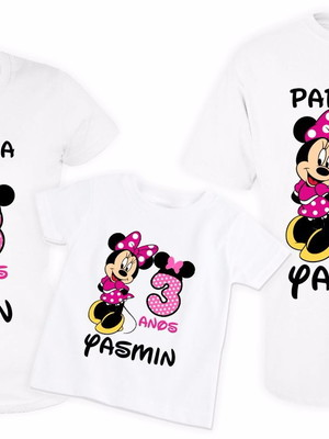 KIT 3 Camisetas Personalizadas Minnie 2