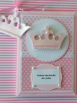 Diário da Mamãe Personalizado princesa acompanhar gravidez