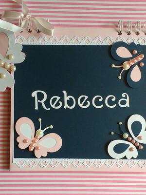 caderno personalizado bebê menina maternidade chá borboleta