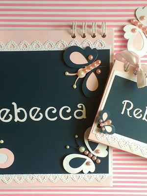 álbum fotos personalizado bebê menina e caderno maternidade