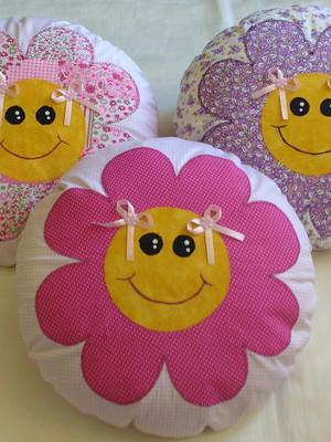 Almofada redonda Flor
