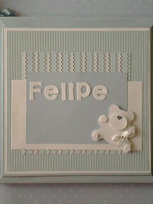 Livro do bebê personalizado menino com caixa ursinho soft
