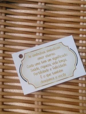 Tag sobre amendoas para casamento