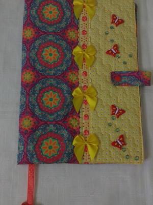 Capa de tecido para caderno