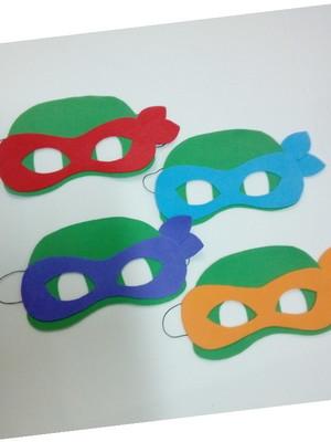 Mascaras das Tartarugas Ninjas de eva
