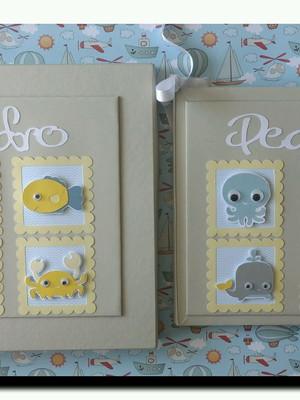Livro do bebê fundo do mar com caixa