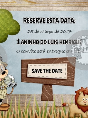 Save the date Mickey Safari